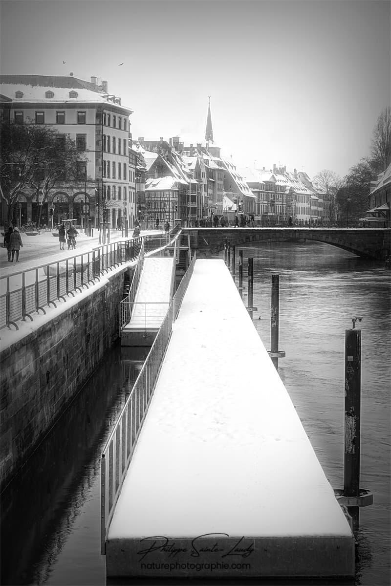Photo de Strasbourg sous la neige